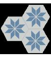 Hexagonal cement decorative tile 20 x 20